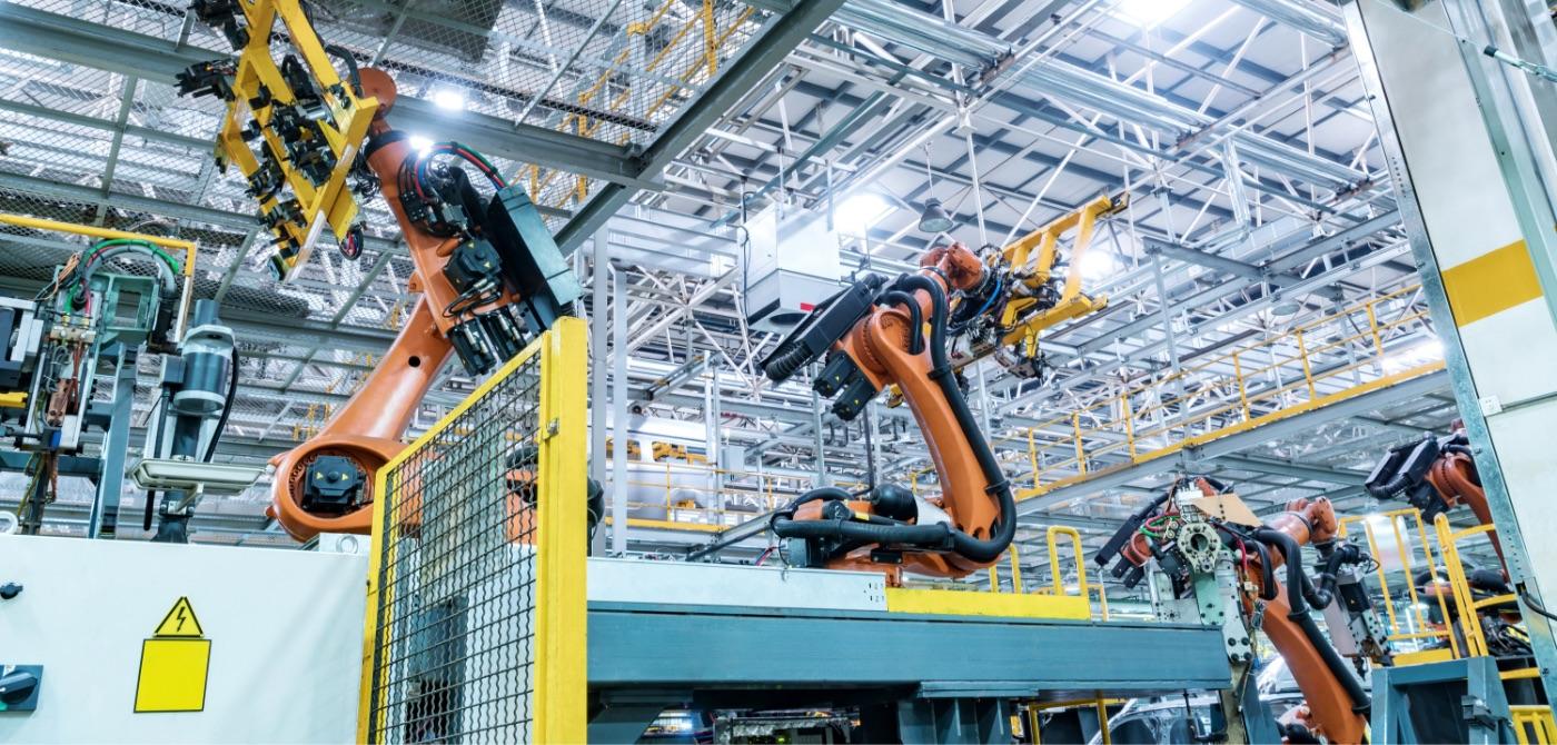 写真:工場の機械